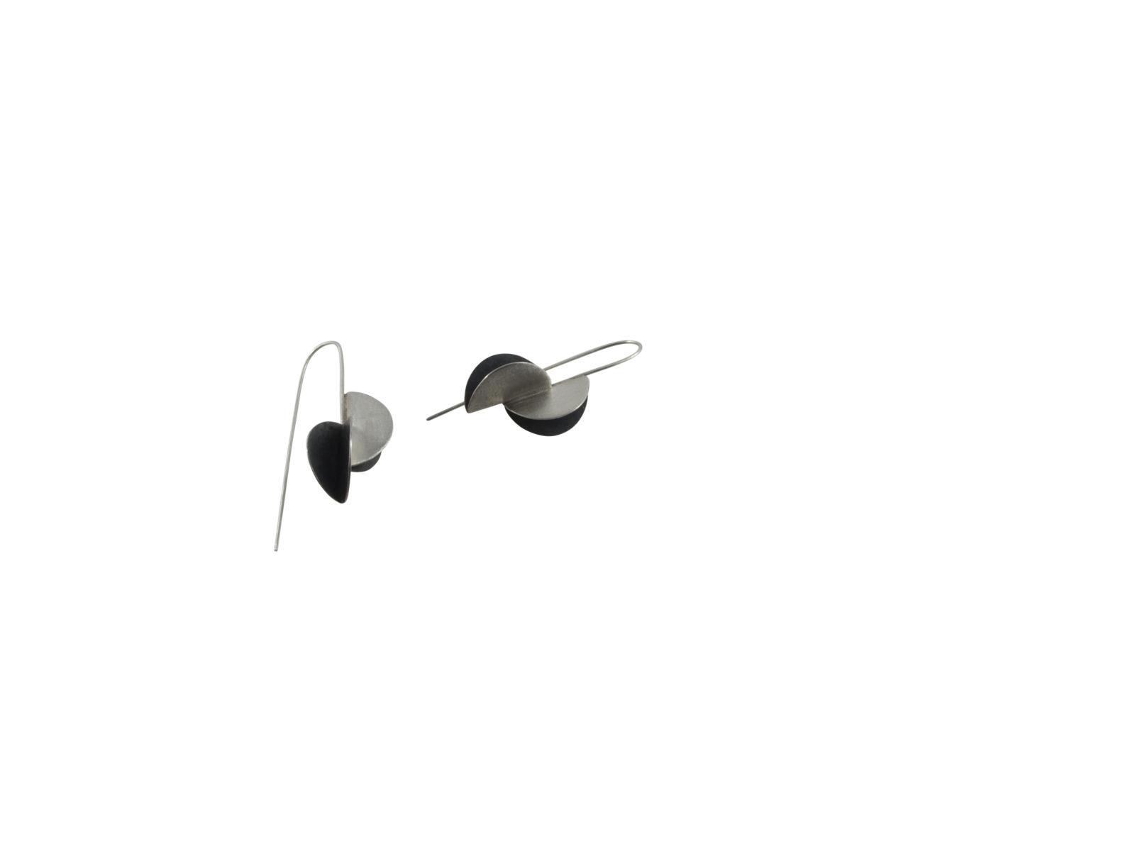Black Fold Earrings